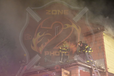 Westbury F.D. Working Fire 258 Grand St. 12/12/15