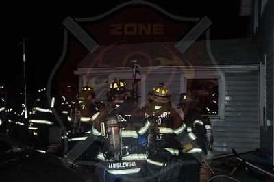Westbury F.D. Working Fire 261 Monitor St. 1/9/14