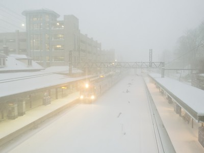 Blizzard of 2016, Train Station