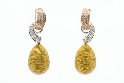 Diamond Silver/Gold Earrings