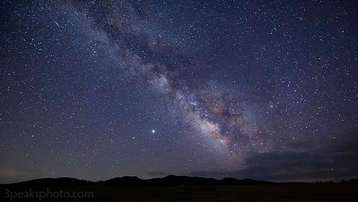 Conditions were very good for photographing the core of the Milky Way.