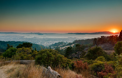 Sunset in the Berkeley hills