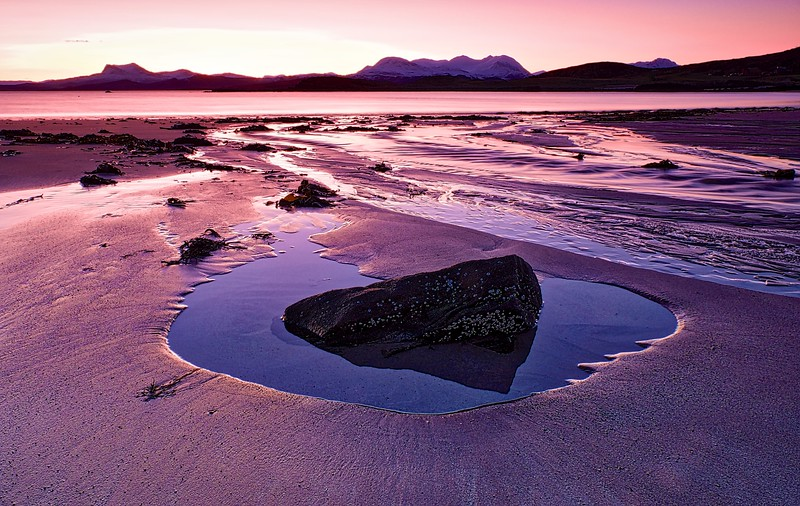 Mellon Udrigle Beach.  Sunrise.