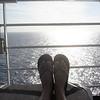 Flip flops and ocean