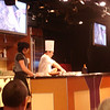 Cooking demonstration in the Queen's Lounge: Pinnacle Grill molten chocolate cake
