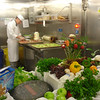 Galley tour - fruit carving station