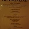 Lido breakfast menu