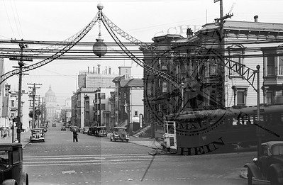 Fulton at Fillmore , View East towards City Hall