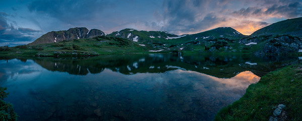Parika Lake, sunset. Never Summer Wilderness, Colorado