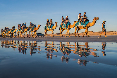 Camel ride at Cable Beach in Broome.