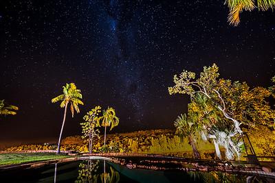 Milky Way over El Questro National Park in Western Australia.