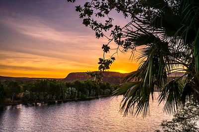 Sunset at El Questro National Park.