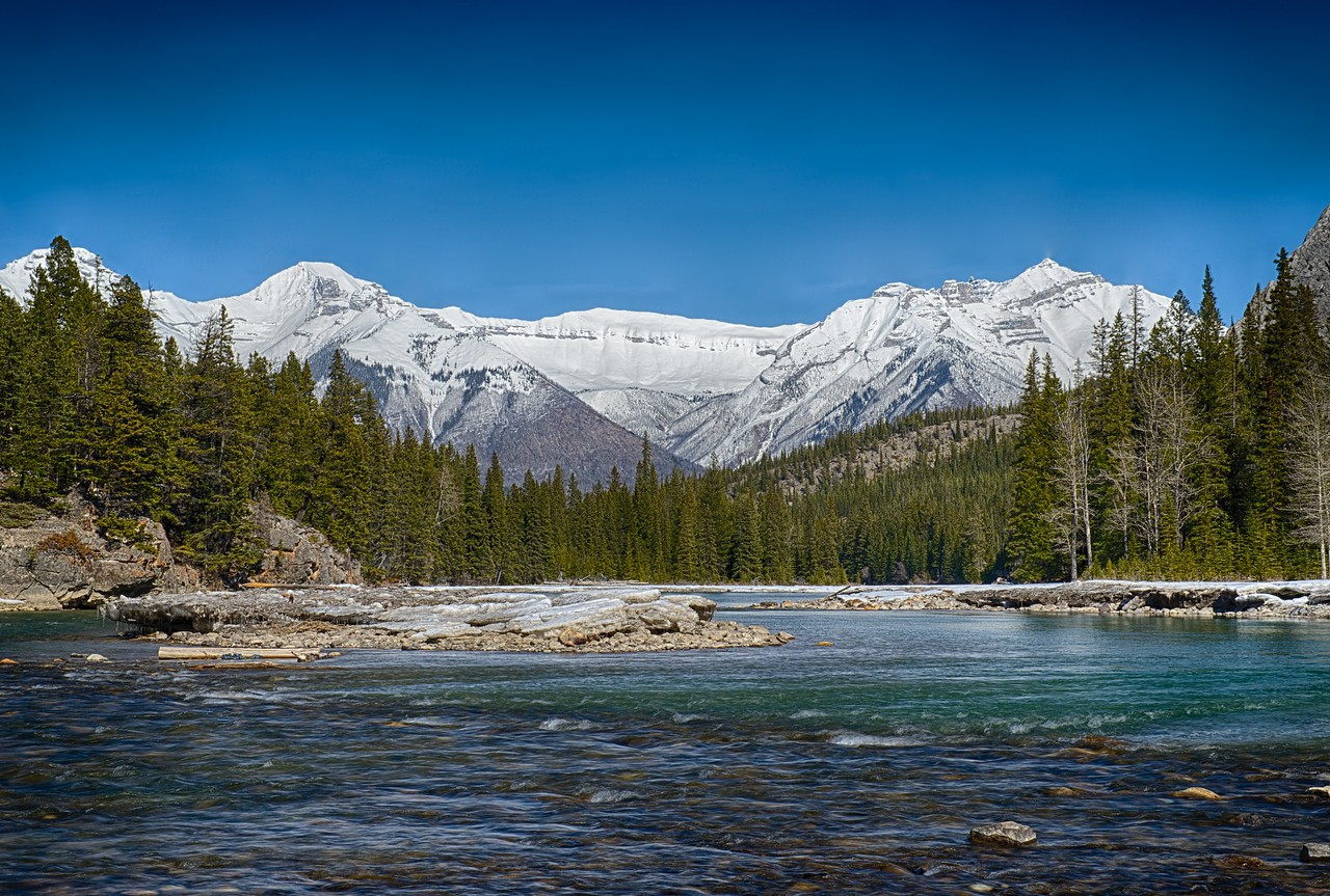 Bow River near Banff Springs Hotel