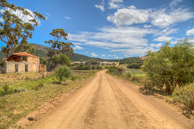 Along a dirt road outside Napier, South Africa