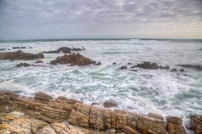 Cape Agulhas - where Indian Ocean meets Pacific Ocean - southernmost point in Africa