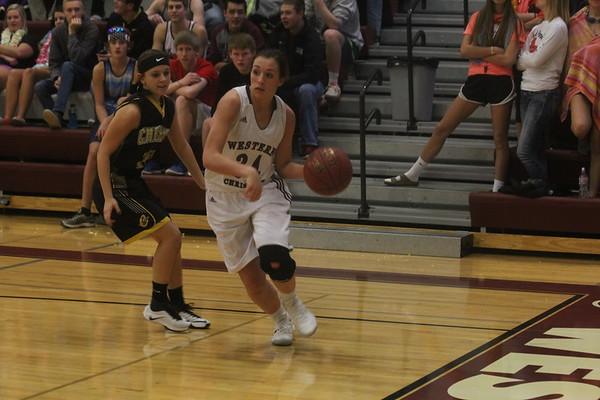 Western Christian girls' and boys' basketball vs. Cherokee 2-7-17