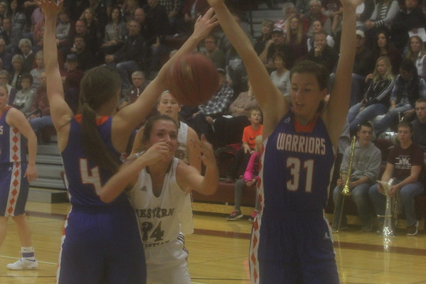 Western Christian girls' and boys's basketball vs. Sioux Center 12-3