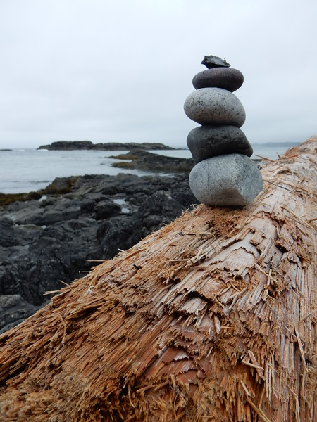Cairn by the sea.