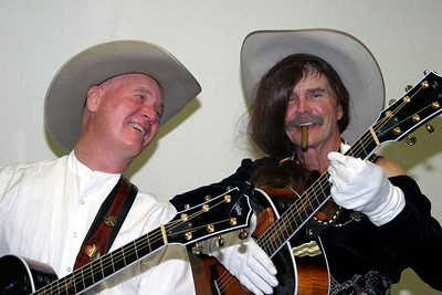 Buck Taylor, who starred as Newly on Gunsmoke, auditions as Curly's new singing partner  Western Legends Roundup Kanab, Utah 2005