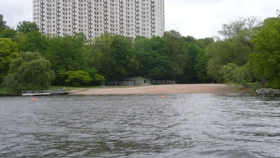 Only beach in Stockholm