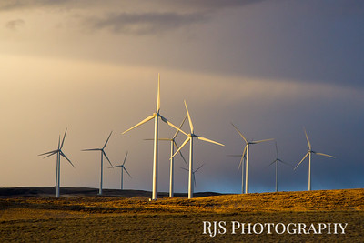 Sun Setting on Windmills