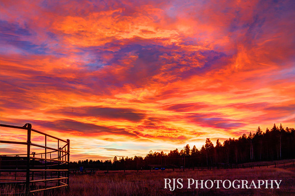Sunrise at the Riding Arena