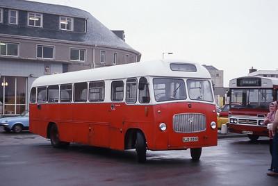 Lochs Motor Transport Leurbost KJS555R Stornoway Bus Station Feb 87