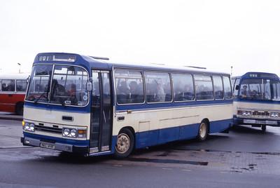 Lochs Motor Transport Leurbost NAS146R Stornoway Bus Station 2 Feb 87