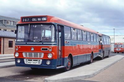 MacDonald Vatisker MSF745P Stornoway Bus Station Jun 85