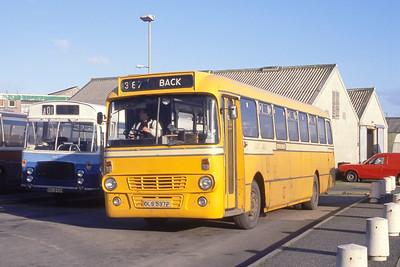 MacDonald Vatisker OLS537P Stornoway Bus Station Mar 91