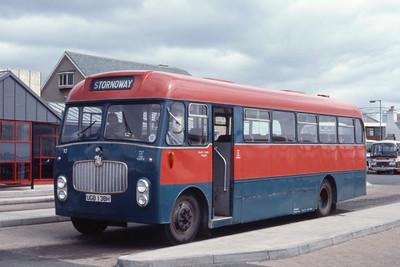 MacDonald Vatisker UGB138H Stornoway Bus Station Jun 85