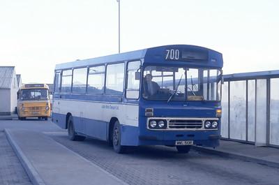 Lochs Motor Transport Leurbost WWL510R Stornoway Bus Station Mar 91