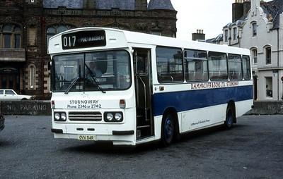 MacIver Stornoway OVV54R Stornoway Bus Stn Jun 81
