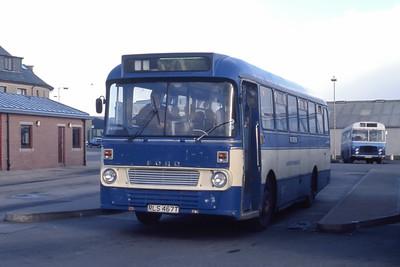 Lochs Motor Transport Leurbost RLS467T Stornoway Bus Station 2 Mar 91