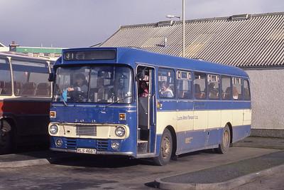 Lochs Motor Transport Leurbost RLS466T Stornoway Bus Station Mar 91