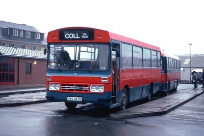 MacDonald Vatisker HAS947N Stornoway Bus Station Feb 87