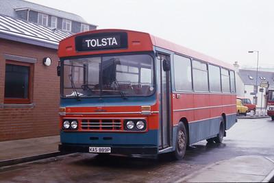 MacDonald Vatisker KAS889P Stornoway Bus Station Feb 87