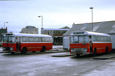 Lochs Motor Transport Leurbost RWN238M_RWN241M Stornoway Bus Station Feb 87