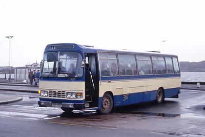 Lochs Motor Transport Leurbost OST251S Stornoway Bus Station 2 Feb 87