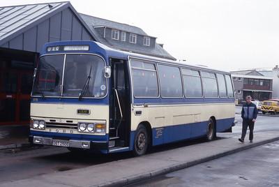Lochs Motor Transport Leurbost OST250S Stornoway Bus Station Feb 87