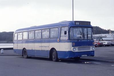 Lochs Motor Transport Leurbost RLS467T Stornoway Bus Station 1 Mar 91