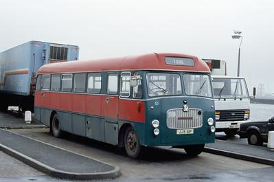 MacDonald Vatisker JJS111P Stornoway Bus Station Feb 87