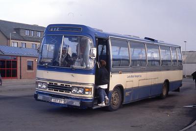 Lochs Motor Transport Leurbost UST2T Stornoway Bus Station Mar 91