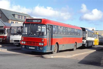 MacDonald Vatisker HCS797N Stornoway Bus Station Mar 91