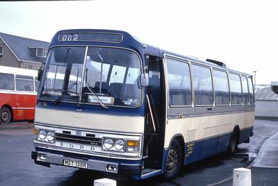 Lochs Motor Transport Leurbost MST138R Stornoway Bus Station Feb 87