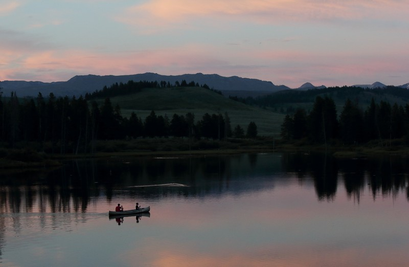 Canoeing in West Yellowstone
