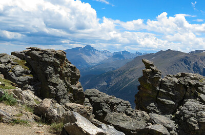 Long's Peak in the distance.  A must-see view.