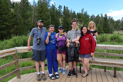 The crew - unmasked - by the Beaver Ponds