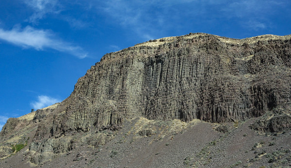 Nice basalt lava flow along the Columbia River
