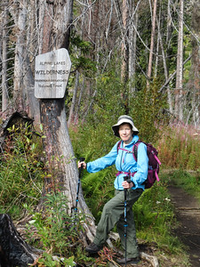 It was not too long before we crossed the Wilderness Boundary.  Susie had been in this Wilderness before (hiking into the Enchantments), but if had been several decades.